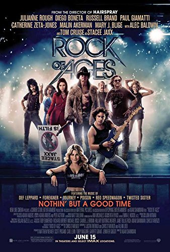 Rock of Ages (2012) 27 X 40 Movie Poster Style A Dakota Sage Grant, Julianne Hough, Tom Cruise, Matt Sullivan, Alec Baldwin, Russell Brand (Tom Cruise Style)