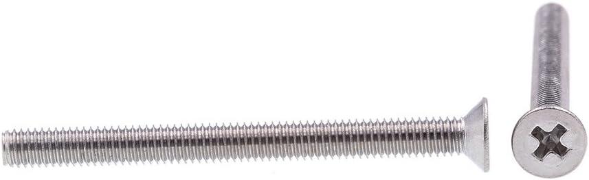 212 piezas Tornillo prisionero M2 A2-DIN913 Tornillo de fijaci/ón de z/ócalo hexagonal de cabeza plana est/ándar Incluye 2 piezas de herramienta de montaje Tornillo de fijaci/ón