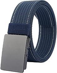 LionVII Men Nylon Web Belts - Metal Buckle,Fully Adjustable Belt Strap for Work