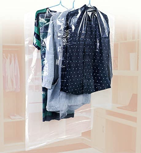 20x Kleiderschutzhülle Mantelschutz Kleiderfolie Kleidersack Transparent 4Größen