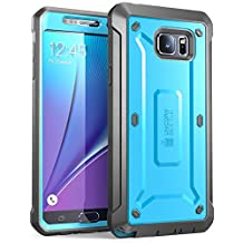 Samsung Galaxy Note 5 Case, SUPCASE [Heavy Duty] Belt Clip Holster Case for Galaxy Note 5 [Unicorn Beetle PRO Series] Full-body Rugged Cover with Built-in Screen Protector / Bumpers (Blue/Black)