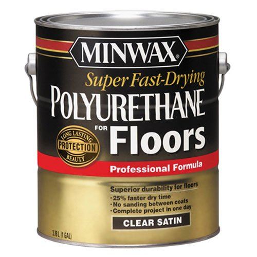 Fast Drying Wood - Minwax 13022000 Super Fast-Drying Polyurethane For Floors, 1 gallon, Satin