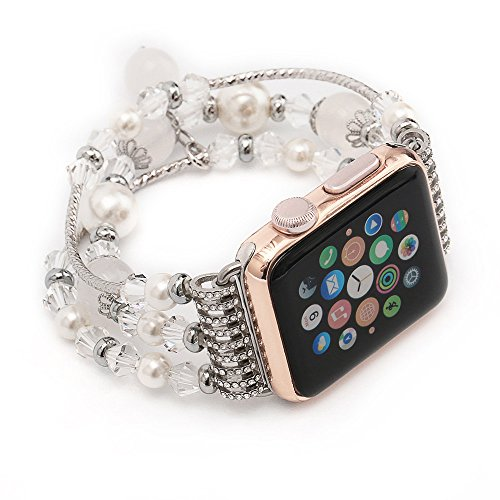 Watch Band,ABCsell Sports Watchband Beaded Bracelet Strap Luxury Band For Apple Watch Series 2/1 38mm