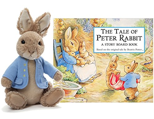 Price comparison product image Gund Classic Beatrix Potter Peter Rabbit Stuffed Animal Plush 6.5-Inch with The Tale of Peter Rabbit Board Book Bundle Easter Basket Stuffer