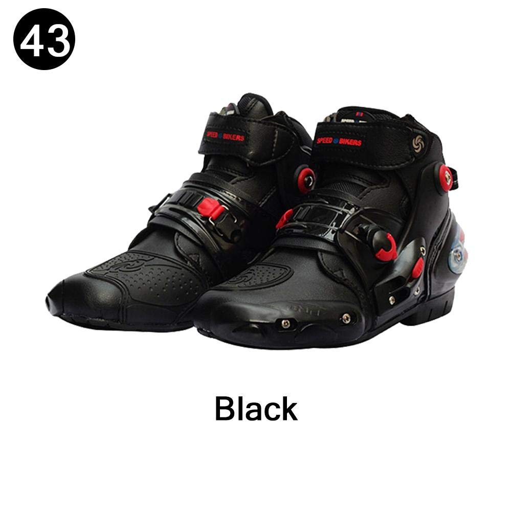 LKN Motorbike Shoes Motocross Boots Protective Riding Gear Red