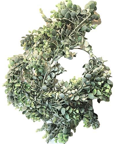 Elegant Blooms & Things 6 Feet Artificial Eucalyptus Garland Banister Mantel Wrap Hang Coil Decor Plastic -