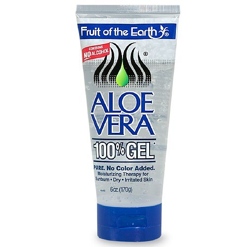 Fruit Of The Earth Aloe Vera 100% Gel, Crystal Clear (6 oz (Georges Aloe Vera Lotion)