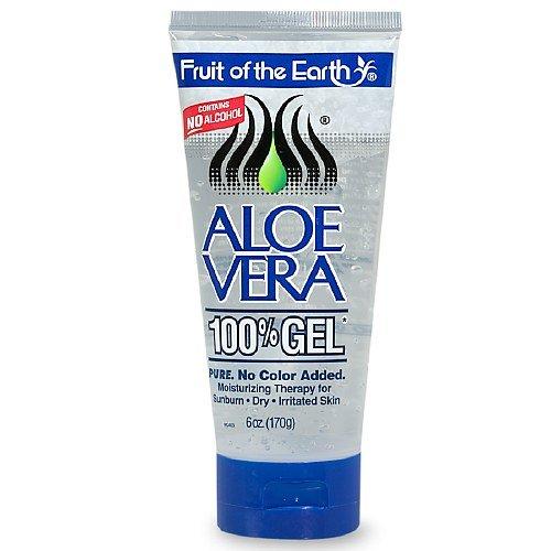 Fruit Of The Earth Aloe Vera 100% Gel, Crystal Clear (6 oz (Georges Aloe Vera Lotion)