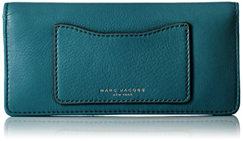 Marc Jacobs Recruit Open Face Wallet, Teal, One Size by Marc Jacobs