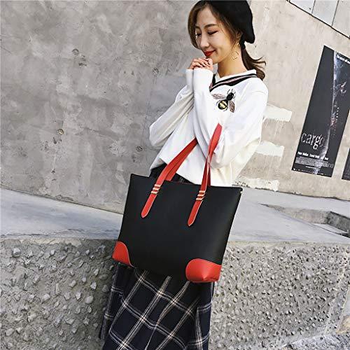 Casual Bag spalla rosso semplice Cheap Pu a Zipper Sylar Shopper Bag Women Leather Stile Big Shoulder g1W4x