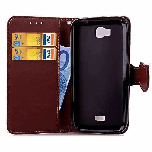 SRY-Conjuntos de teléfonos móviles de Huawei HUAWE Y5C Hornor Bee Y541 cubierta de la caja hoja de cierre magnético estilo Premium PU funda de cuero caja de la cartera cubierta de silicona para HUAWE  Green