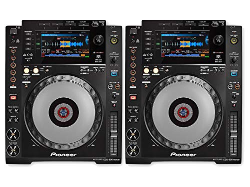 Pioneer DJ CDJ-900NXS Professional Digital DJ Deck CD Player with MIDI Controller/USB Playback/TRAKTOR PRO-2 Player Supports/Wi-Fi & Advanced Playback Options & Pro DJ Interconnectivity - (Pair) (Best Cdj For Traktor)