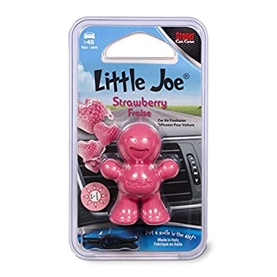 Little Joe 96408 Strawberry Scent, Car Air Freshener, Clips to A/C Air Vent, Alcohol-Free Fragrance Oil, Non-Hazardous and Non-Toxic Plastic, Set of 1: Automotive