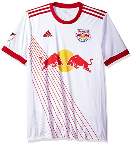 fan products of MLS New York Red Bulls Adult Men Replica Wordmark s/jersey,Large,White