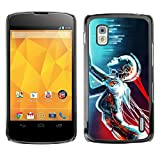 For LG Nexus 4 E960 , S-type Funny Frosty Beer Glass - Colorful Printed Hard Protective Back Case Cover Shell Skin