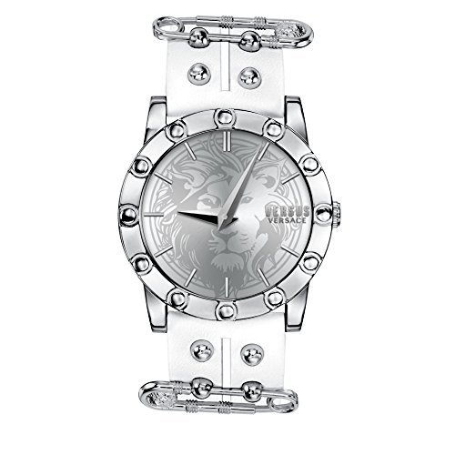 Versus by Versace Women's 'MIAMI' Quartz Stainless Steel and Leather Casual Watch, Color:White (Model: S72010016)