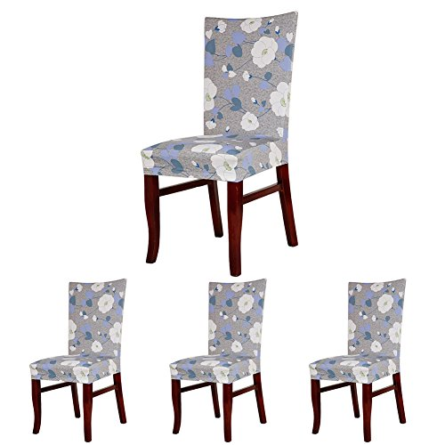 ColorBird Elegant Floral Spandex Fabric Chair Slipcovers Rem