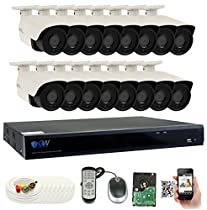 GW 4 Megapixel HD 1440P Complete Security System | (16) x 4MP Outdoor Bullet Security Cameras, 16-Channel Plug and Play 5-In-1 DVR, True 4MP HD 1440P Double the resolution of HD 2MP 1080P