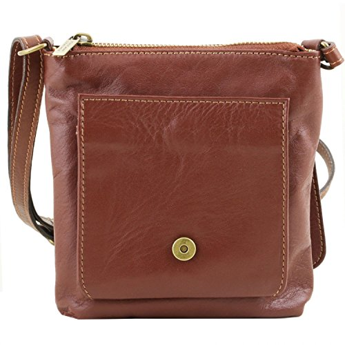 en Suave Unisex Sasha Cognac Bolso Piel Leather Tuscany Negro naCFII