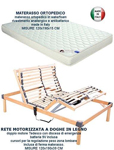Più Relax RETE ELETTRICA MOTORIZZATA UNA PIAZZA E MEZZA 120X190 + ...