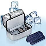 ALLCAMP Insulin Travel Bag with 4 Ice Pack for Diabetic Organize Medication for 24 Hours with Ice Packs (Small)