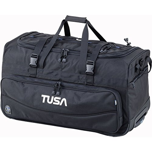 TUSA - Dive Gear Roller Duffle Bag in Black