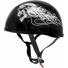 Skid Lid Helmets Sl Original Biker Skull Xl Half Helmets Pn:646930