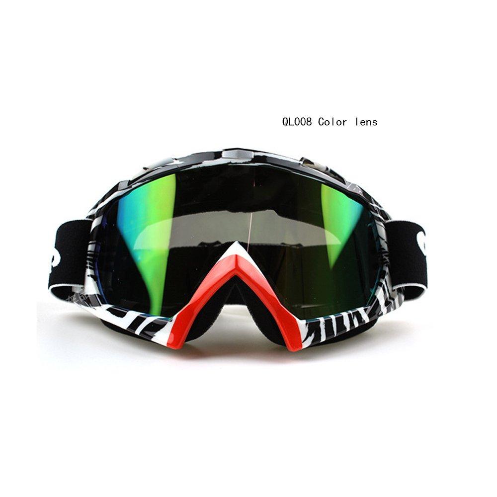 logas Occhiali da Moto da Fuoristrada Motocross/ATV Occhiali da Moto anti-UV Antivento per Gli Sport All'aria Aperta