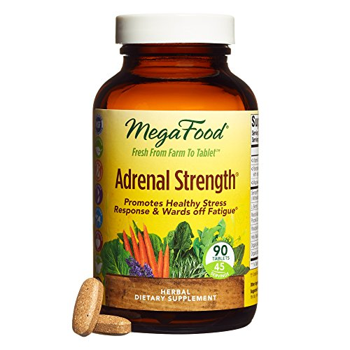MegaFood - Adrenal Strength, Supports Resistance to Fatigue and Stress, 90 Count by MegaFood
