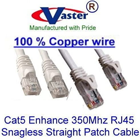 Ethernet Network Patch Cable UL 24Awg Pure Copper Gray SuperEcable -20672-14 Ft UTP Cat5e