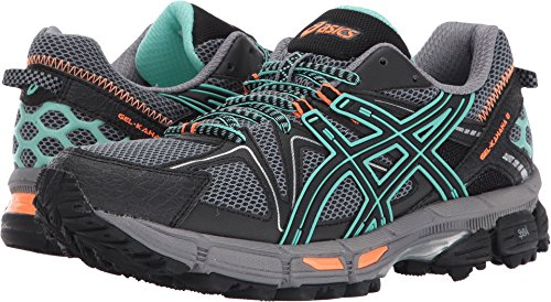ASICS Women's Gel-Kahana 8 Running Shoe, Black/Ice Green/Hot Orange, 8 Medium US