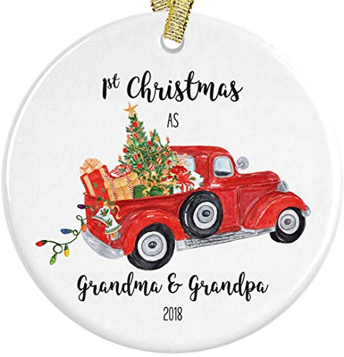 Our First Christmas as Grandma and Grandpa 2018