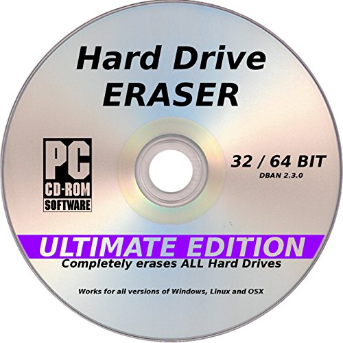 DBAN Hard Drive Eraser, Latest Ultimate Edition, PC / Linux / MAC