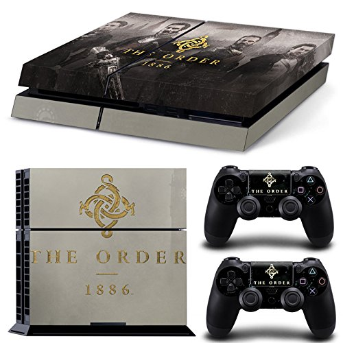 Ambur®Ps4 Console Designer Protective Vinyl Skin Decal Cover for Sony Playstation 4 & Remote Dualshock 4 Wireless Controller Stickers - ps4 skin the order 1886 -