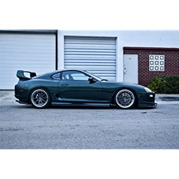 Toyota Single Turbo Supra Right Side MKIV 2JZ-GTE JZA80 RIDOX Wheels HD Poster 36 X 24 Inch Print