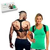Posture Corrector Brace for Women & Men - Provides Upper Back & Shoulder Clavicle Support for Back Straightener Pain Relief - Improves your Comfort - Front Adjustable Straps & Wearable Under Clothes