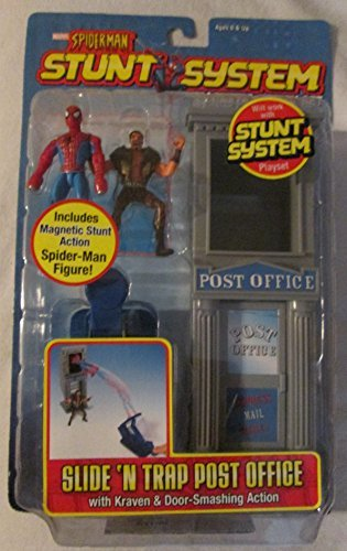 Marvel Spider-Man Stunt System Magnetic Action Set: Slide N' Trap Post (Stunt System)