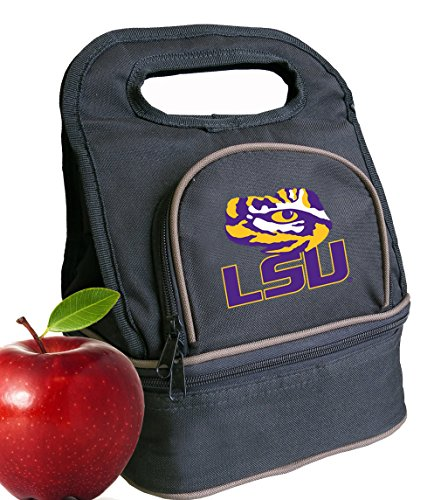 Broad Bay LSU Tigers Lunch Bag LSU Lunch Box - 2 Sections!
