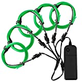 El Wire, Zitrades El Wire Kit 4 Modes Battery Operated For Party Indoor Outdoor Decoration, 5 by 1-Meter,Green