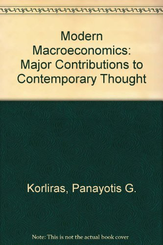 Modern Macroeconomics: Major Contributions to Contemporary Thought