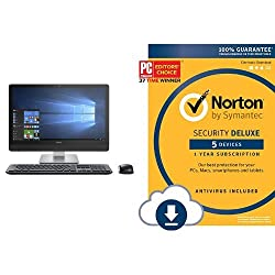 Dell Inspiron 24 3000 Series All-In-One (Intel Core i3, 8 GB RAM, 500 GB HDD) with Norton Security Deluxe - 5 Devices | PC/Mac Online Code [Online Code]