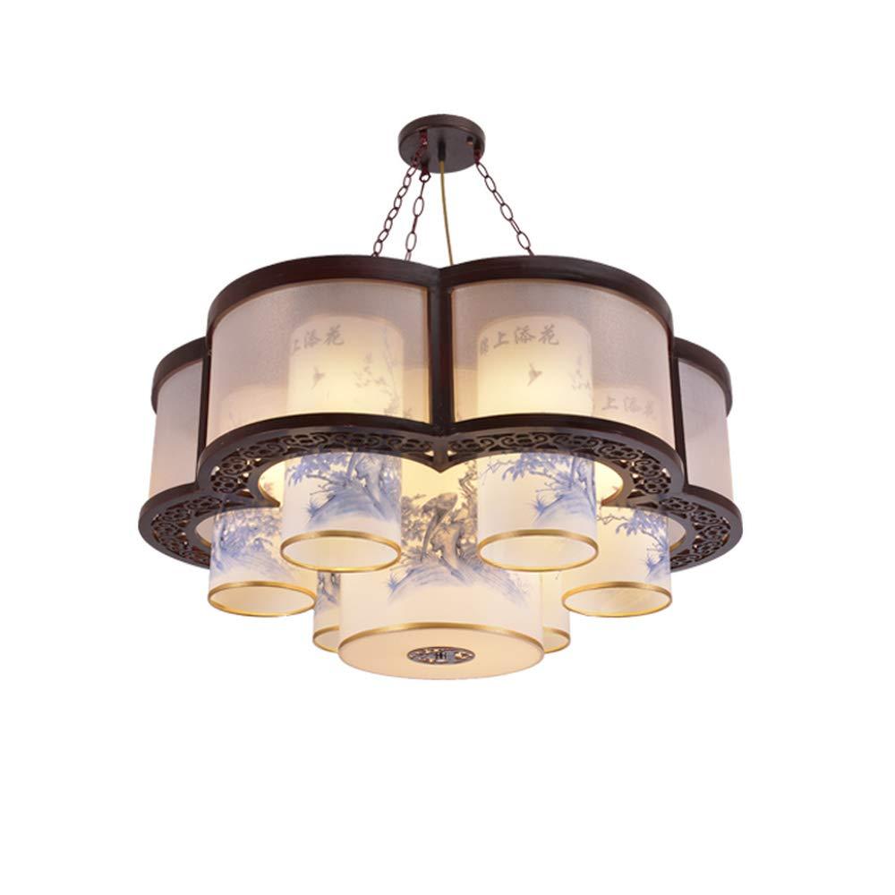 1PCSオフィスライトヴィラ照明中国スタイルの木製のペンダントライトリビングルーム頑丈な木製の円形高品質のシープスキンライティングペンダントランプWL7241349PY (Size : D60CM) B07GTMXZJ7  D60CM