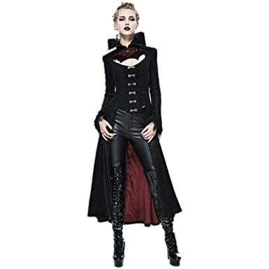 a54808d89be85f Devil Fashion Steampunk Gothic Dark Vampire Queen Style Sexy Jacket Long  Winter Coat for Women