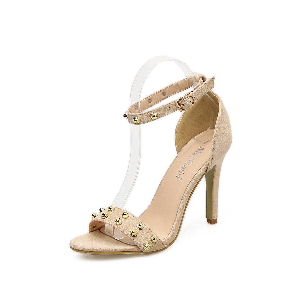 ZHZNVX Die neue high-heel high-heel high-heel Schuhe Tau - Niet fein mit Sandalen Damenschuhe 485cdb