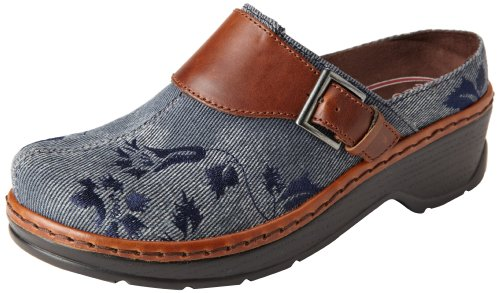 Denim Leather Clogs (Klogs USA Women's Austin Clog,Light Denim,8 W US)