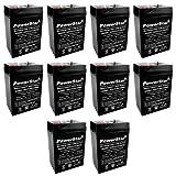 6V 4.5Ah Rechargeable Sealed Deer Game Feeder Camera Battery - 10 Pack