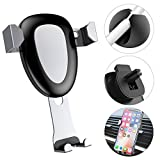 Car Phone Mount, Universal Cell Phone Holder for Car Magnetic Air Vent, One-Handed Performance Compatible with iPhone X/8/7/6S/6/7 Plus, Samsung S8/S7/S6 Edge and Other Smartphones (Silver)