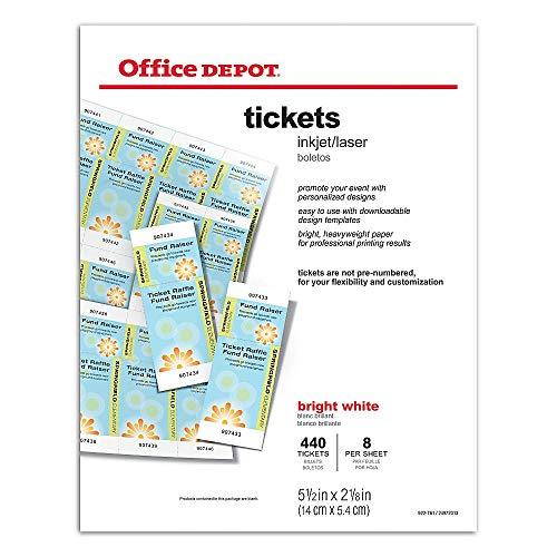Office Depot(R) Laser/Inkjet Tickets, Pack Of 440 Tickets (Office Depot Tickets)