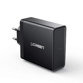 UGREEN 65W Cargador Rápido USB C PD, USB PD Cargador USB-C 65W Quick Charge QC 3.0 Adaptador de Alimentación para MacBook 2015/2016, MacBook Pro ...
