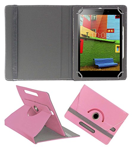 Acm Rotating 360 Leather Flip Case Compatible with Lenovo Phab Plus Cover Stand Light Pink